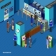 Bank Service Isometric Concept  - GraphicRiver Item for Sale