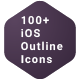 100+ iOS Outline Icons Pack - GraphicRiver Item for Sale