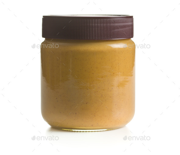 Creamy peanut butter - Stock Photo - Images