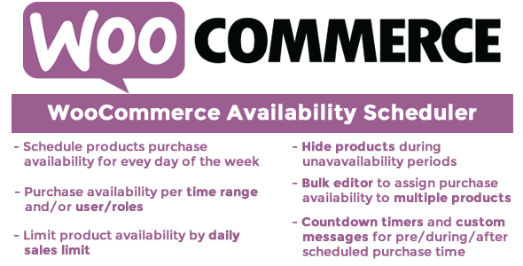 WooCommerce Availability Scheduler - CodeCanyon Item for Sale