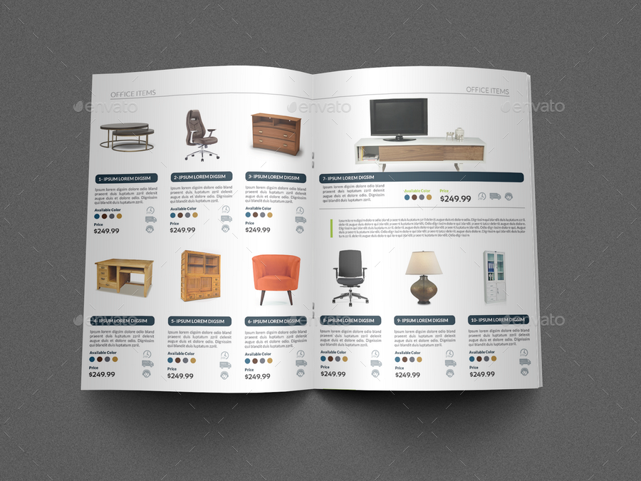 Products Catalogs Brochure Template Vol Pages By OWPictures - Brochure template for pages