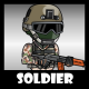 Soldier 41 Woodland Mercenary - GraphicRiver Item for Sale