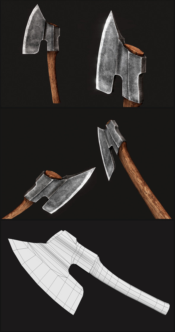 Goosewing Hewing Axe - 3DOcean Item for Sale