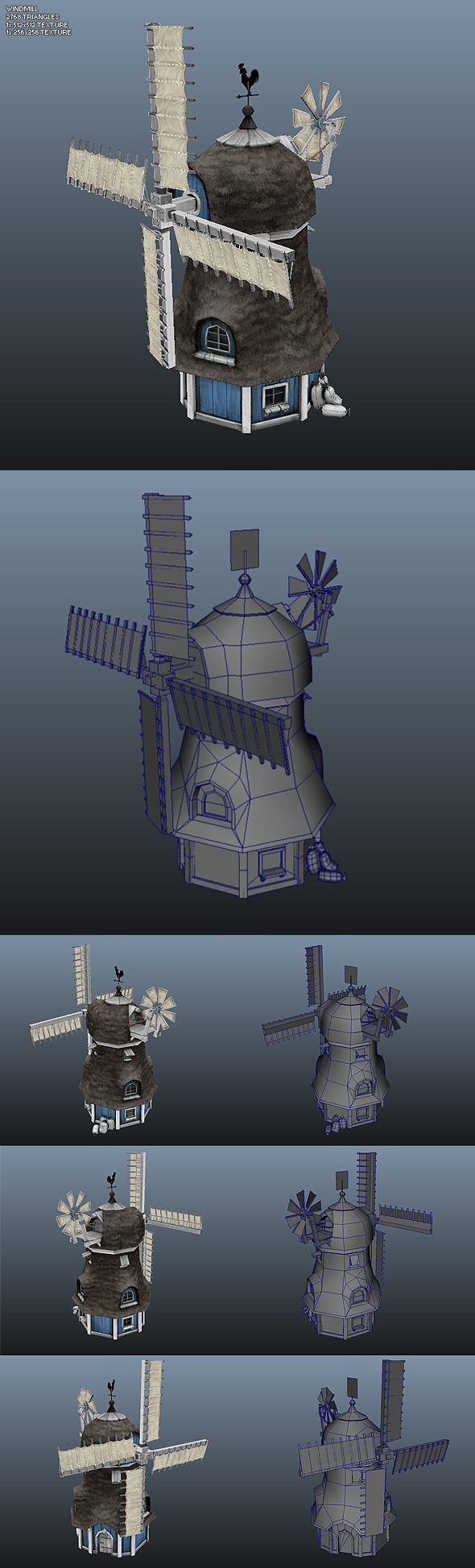 Low Poly Windmill - 3DOcean Item for Sale