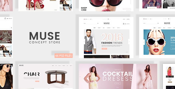 Muse Concept Store – Multiuse E-Commerce PSD Template