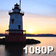 Historic River Lighthouse at Sunset - VideoHive Item for Sale