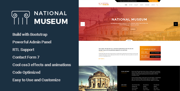 Museum - Responsive WordPress Theme