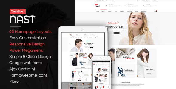 NastCreative - Multipurpose Responsive OpenCart Theme