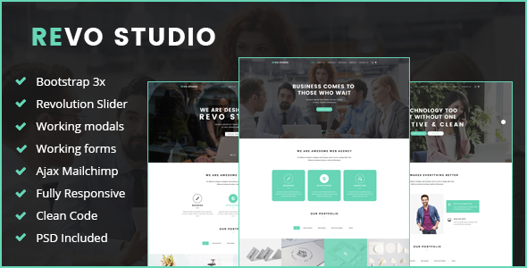 Revo Studio –  Multipurpose HTML Template