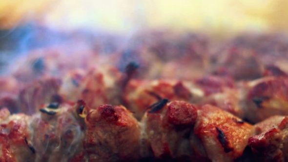 Grilled meat with smoke arabic food cooked meat with crust by play preview video forumfinder Images