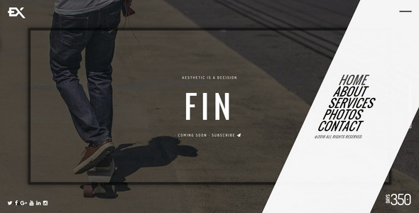 Fin || Responsive Under Construction Template