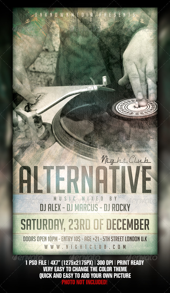 Alternative Music Event Flyer Design - Clubs & Parties Events