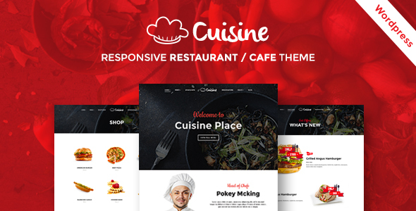 Cuisine – Responsive Restaurant WordPress Theme
