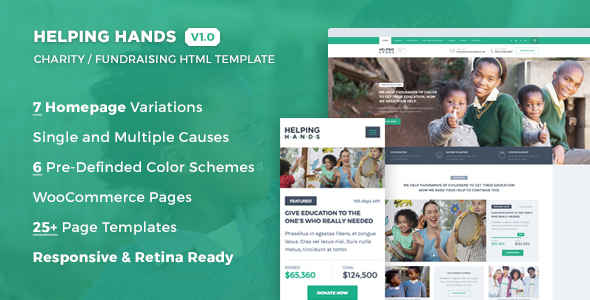 Helping Hands – Charity / NonProfit / Fund Raising HTML Template