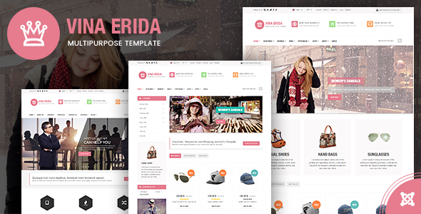 Vina Erida - Multipurpose Joomla 3.x Template - Shopping Retail