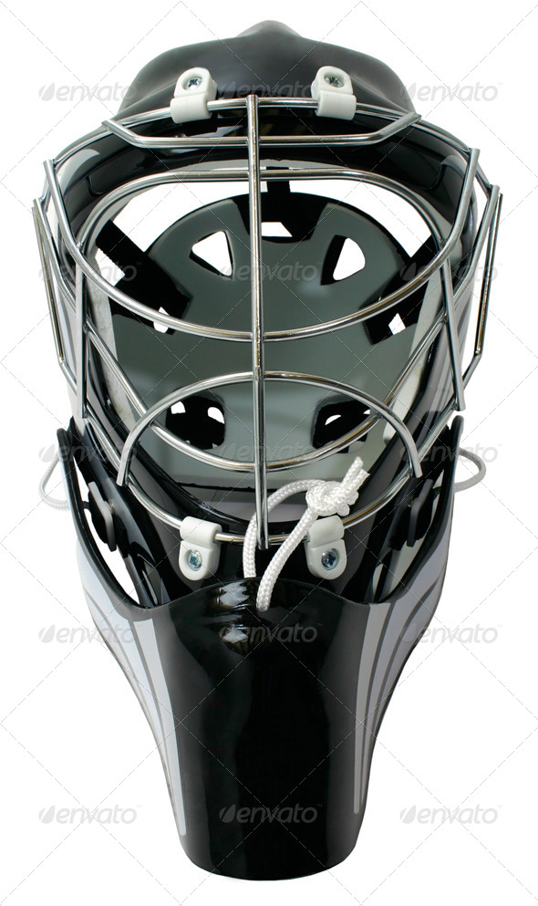Hockey Goalie Helmet - Stock Photo - Images