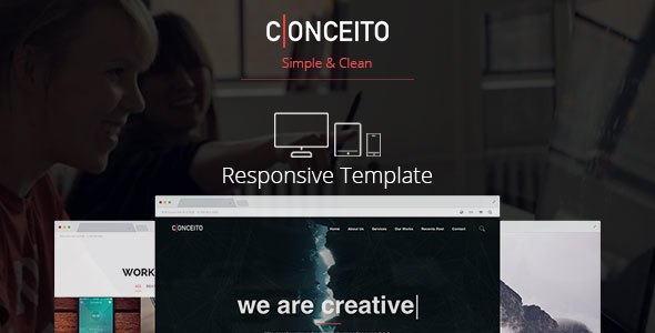 Conceito - Responsive Single Page / One Page Muse Template - Landing Muse Templates