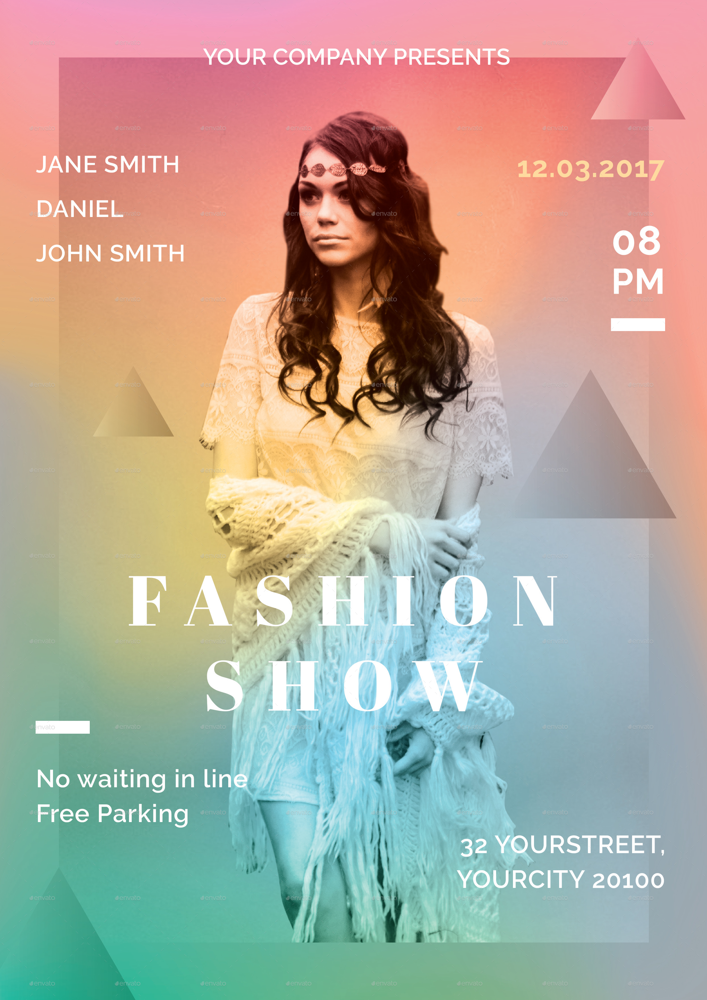 fashion show flyer by infinite78910 graphicriver
