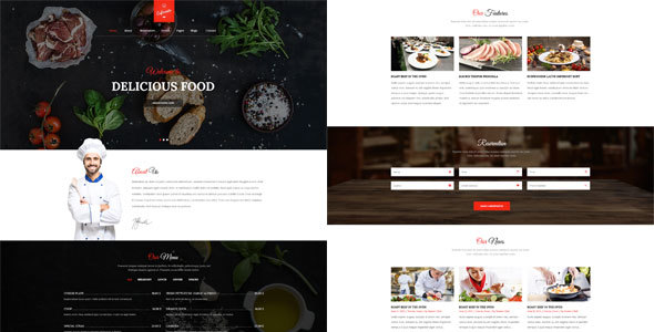 Cafe Resto – Restaurant Psd Template