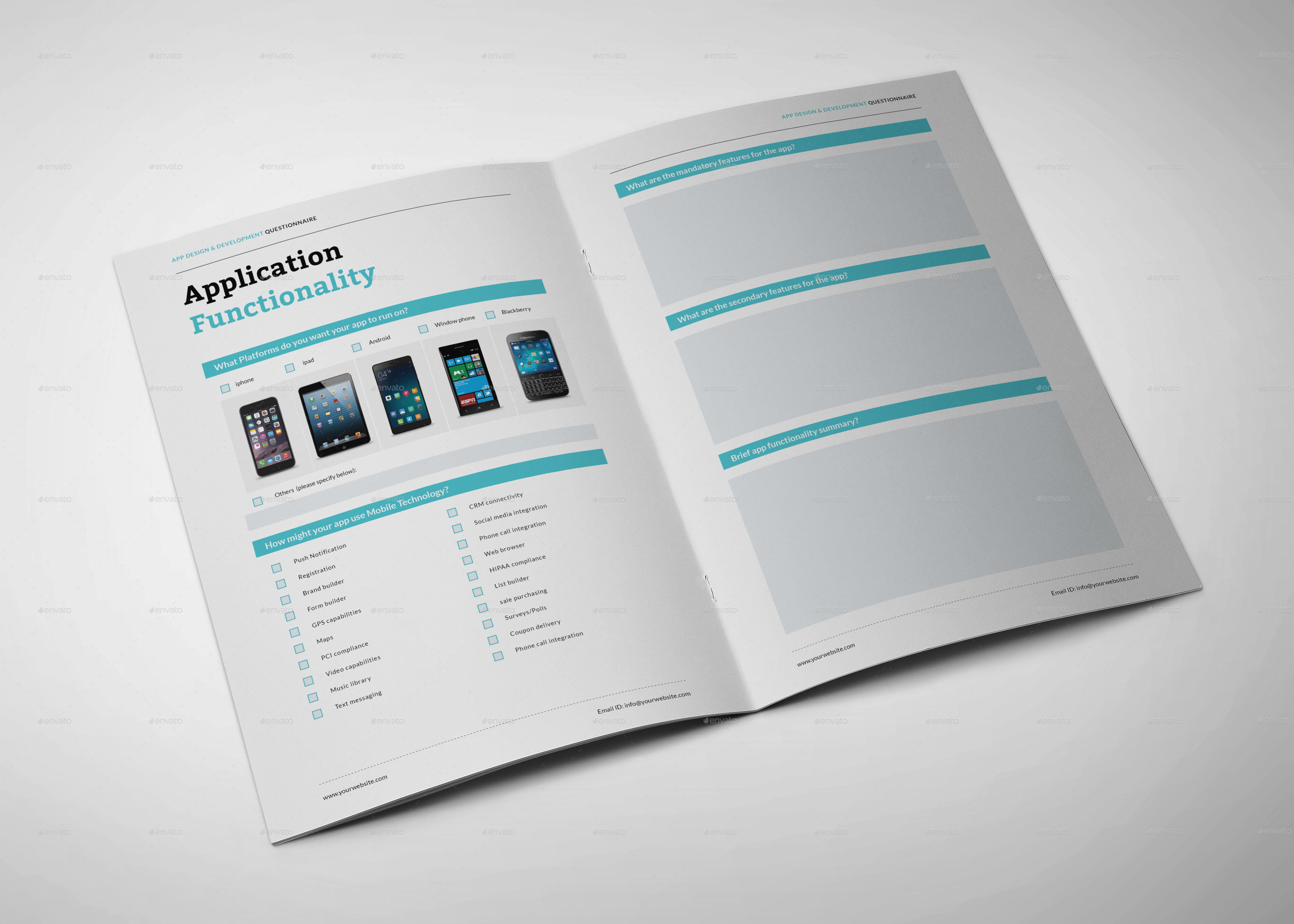 App design questionnaire by graphicsegg | GraphicRiver
