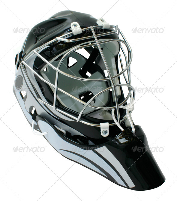 Hockey Goaltender Helmet - Stock Photo - Images