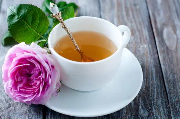 Tea in the Shabby Chic style - Stock Photo - Images