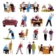 Elderly People Icons Set  - GraphicRiver Item for Sale