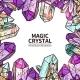 Crystals Hand Drawn Illustration