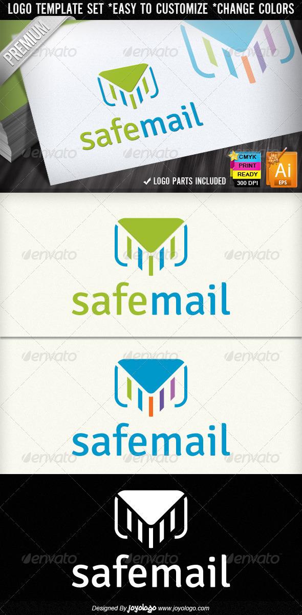 Safe Mail Newsletter Service E-Mail Marketing Logo - Objects Logo Templates