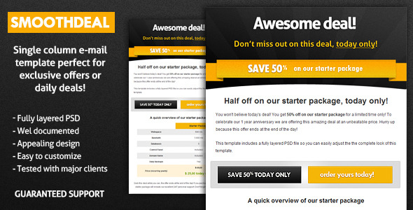 Free Download SmoothDeal E-Mail Template Nulled Latest Version