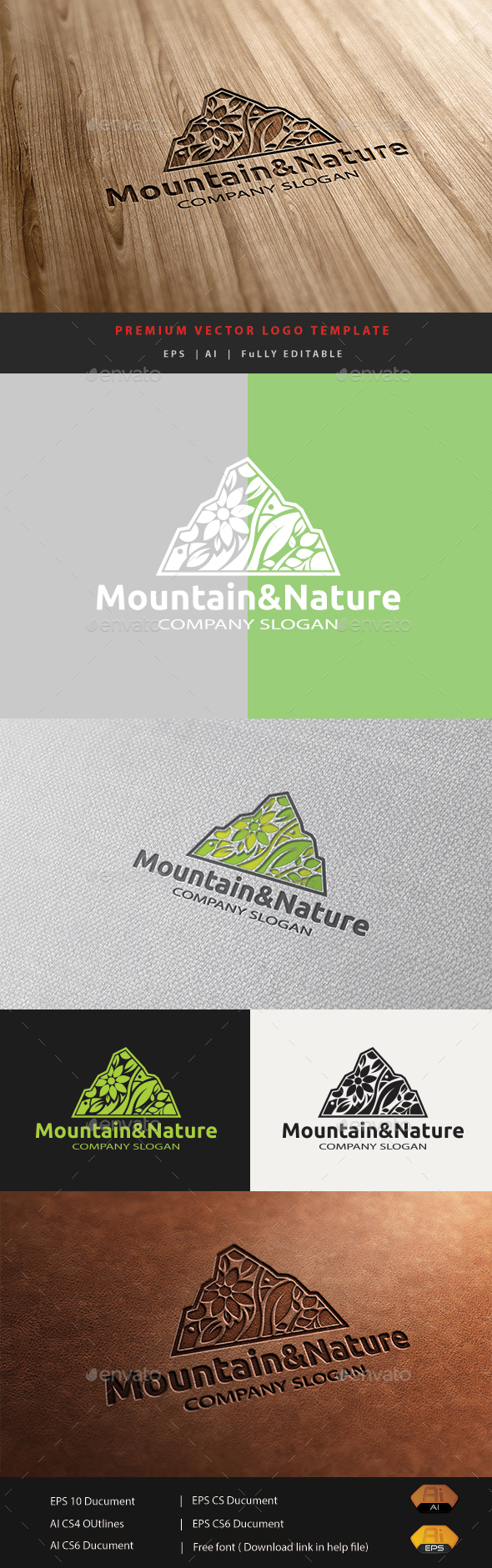 Mountain&Nature - Nature Logo Templates