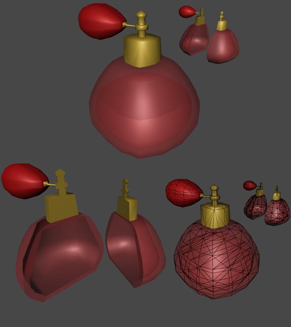 Parfum Bottle For Games - 3DOcean Item for Sale