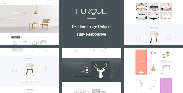 FURQUE – Creative Multiconcept Furniture Store PSD Template