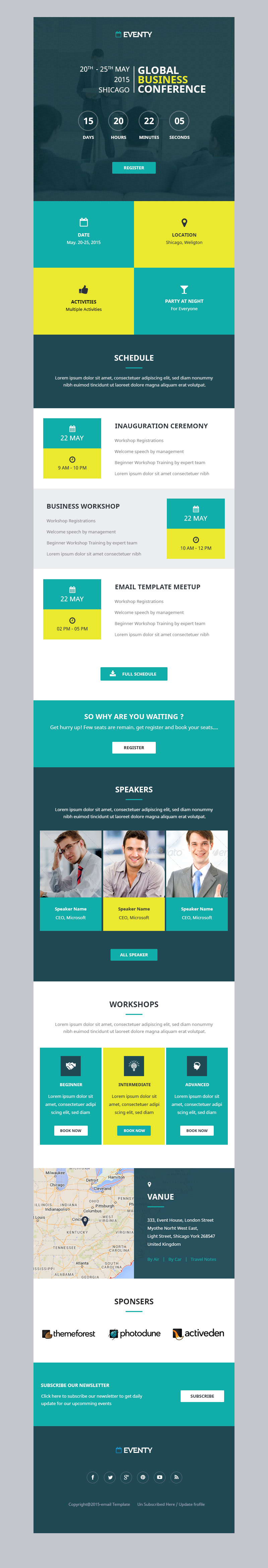Eventy Event Email Template By Kamleshyadav Themeforest