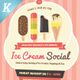Ice Cream Social Flyer Templates