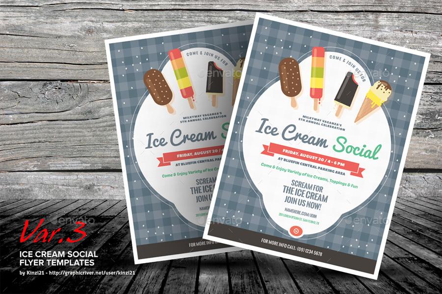 Ice Cream Social Flyer Templates By Kinzi21 Graphicriver