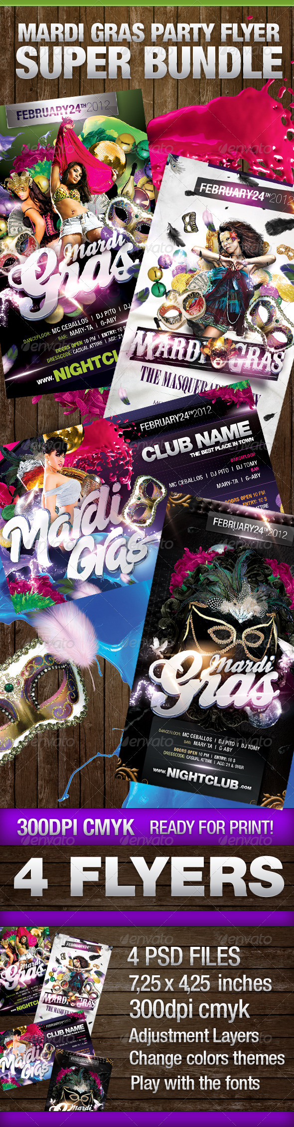 Mardi Gras Super Bundle - Clubs & Parties Events