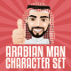 Arabian Man Character Set - GraphicRiver Item for Sale