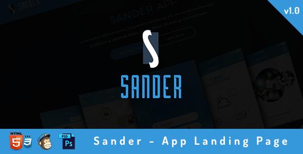 Sander – App Landing Page