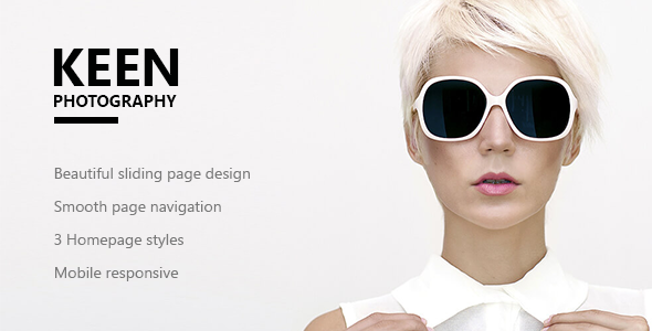 Keen - Minimal Photography WordPress Theme