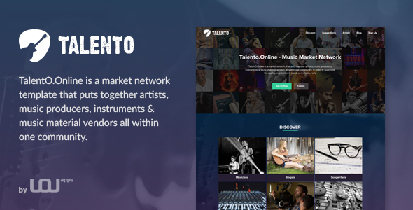 Talento - Music Market Network HTML Template  - Music and Bands Entertainment