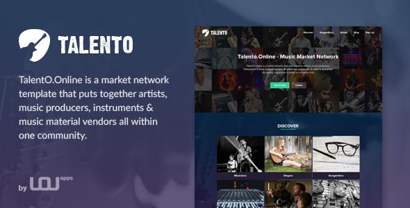 Talento - Music Market Network HTML Template