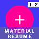 Material Design CV / Resume Vol 02 - GraphicRiver Item for Sale