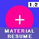 Material Design CV / Resume Vol 02 - GraphicRiver Item for Sale