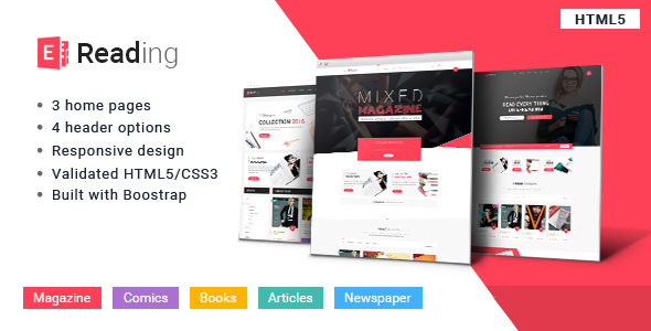 E-Reading Book Store HTML5 Theme