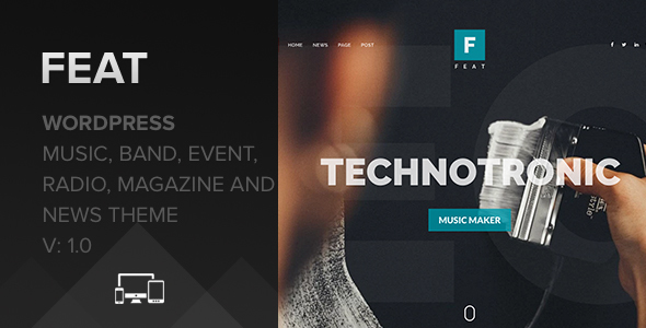 Feat – WordPress Themes For Musicians