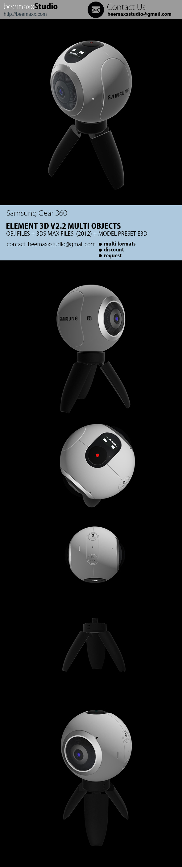 E3D - Samsung Gear 360 Camera - 3DOcean Item for Sale