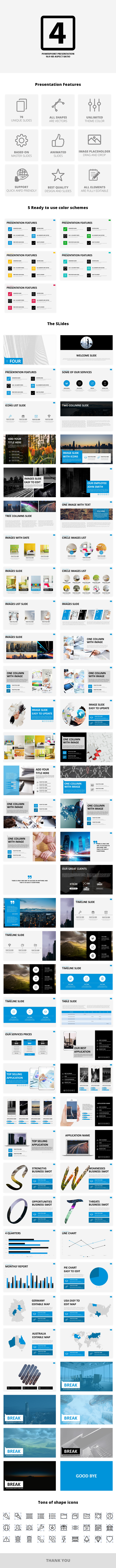 Four premium powerpoint business presentation by spriteit four premium powerpoint business presentation business powerpoint templates toneelgroepblik Image collections