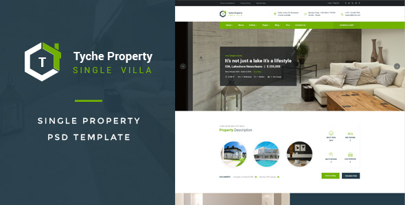 Tyche Properties : Single Property PSD Template