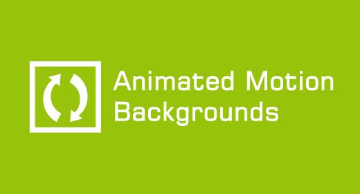 Animated Motion Backgrounds